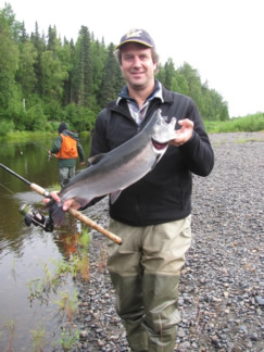 Scott brings in a good Coho