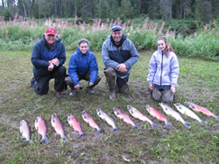 Day two and more great fishing for Lyle, Tori, Lance and Paige.