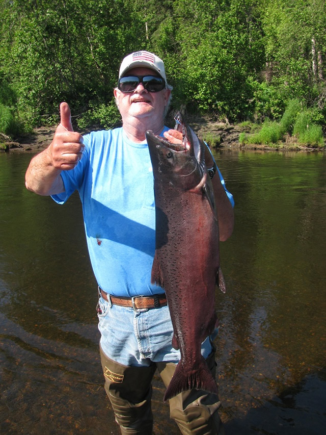 Bob lands his first keeper king salmon