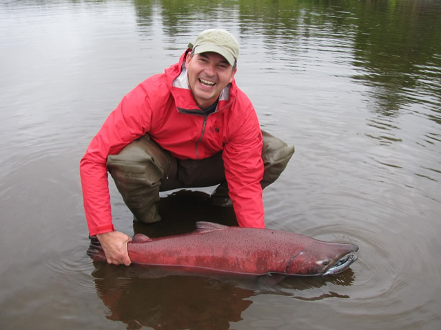 Carl is all smiles with a nice Deshka River King about to be released!