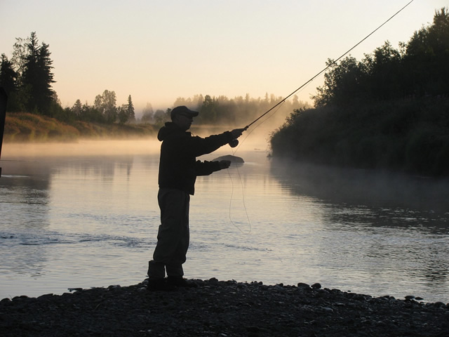 Cool morning mist on the Deshka River and hot silver fishing, it just doesn't get any better then that!