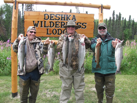 Joel, Witt and Dennis really get into the Silver Salmon