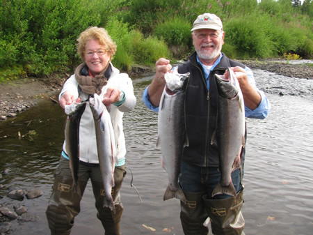 Terri and Rick come all the way from Australia to experience Alaska fishing